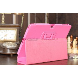 Чехол-обложка для acer iconia tab a510/a511 розовый кожаный