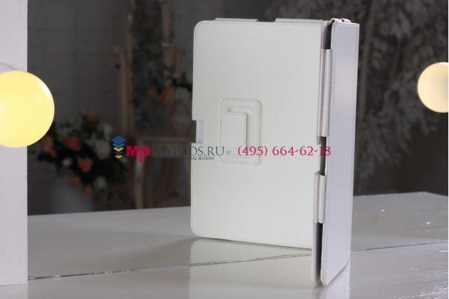 Чехол-обложка для acer iconia tab a510/a511 белый кожаный