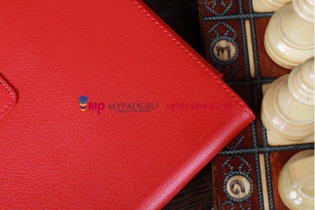 Чехол-обложка для acer iconia tab a510/a511 красный кожаный