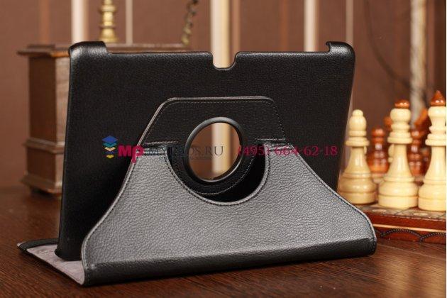 Чехол для acer iconia tab a510/a511 поворотный черный кожаный
