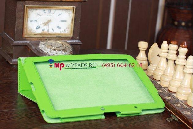 Чехол-обложка для acer iconia tab a510/a511 зеленый кожаный