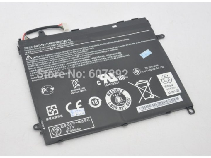 Аккумуляторная батарея bat1011 1icp5/80/120-2  9800mah 9800mah на планшет  acer iconia tab a700/a701 + инструм..