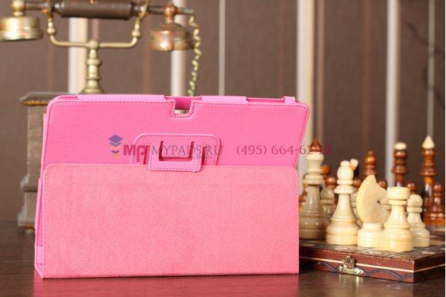 Чехол-обложка для acer iconia tab a700/a701 розовый кожаный
