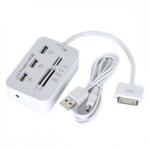 USB переходник + разъем для карт памяти + USB Hub для iPad 2,3