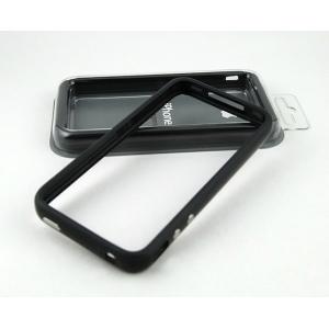 Чехол-бампер для Apple iPhone 4/4S черный силиконовый