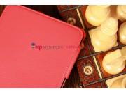 Фирменный чехол для Amazon Kindle Fire HD 7.0 красный кожаный..