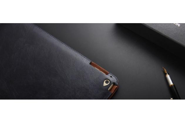 Премиальный чехол бизнес класса для apple ipad 2/3/4 с визитницей из качественной импортной кожи черный