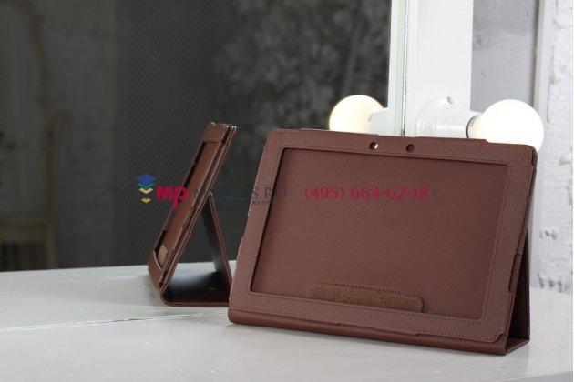 Чехол для asus transformer pad infinity tf700t/tf700kl коричневый кожаный