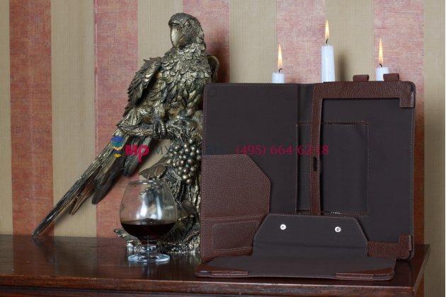 Чехол для asus padfone 1 a66 коричневый с секцией под клавиатуру кожаный
