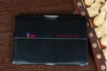 """Чехол открытого типа без рамки вокруг экрана с мульти-подставкой для asus transformer pad tf300 черный кожаный """"deluxe"""""""