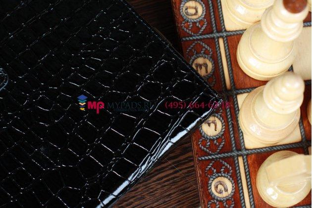 Чехол для asus transformer pad tf300 кожа крокодила черный