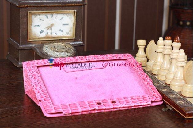 Чехол для asus transformer pad tf300tg/tf300tl кожа крокодила розовый