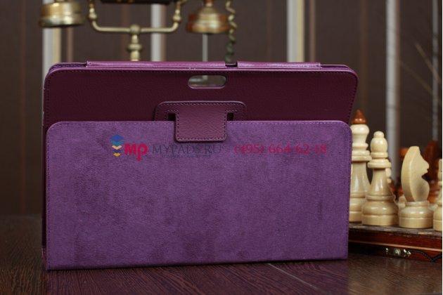 Чехол для asus transformer pad tf300/tf300tg/tf300tl фиолетовый кожаный