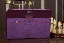 Фирменный чехол для Asus Transformer Pad Infinity TF700T/TF700KL фиолетовый кожаный