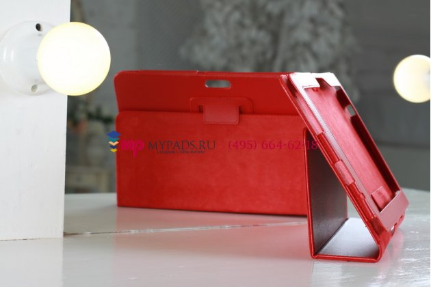 Чехол для asus transformer pad infinity tf700t/tf700kl красный кожаный