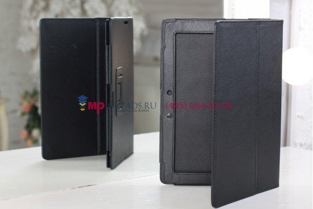 Чехол для asus transformer pad infinity tf700t/tf700kl черный кожаный