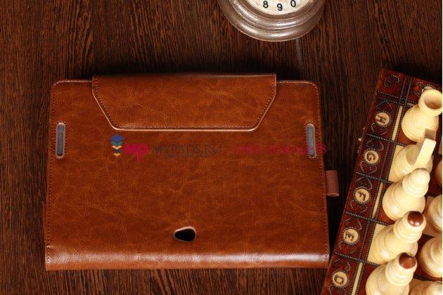 Чехол для asus vivotab rt tf600t/tf600tg коричневый с секцией под клавиатуру кожаный