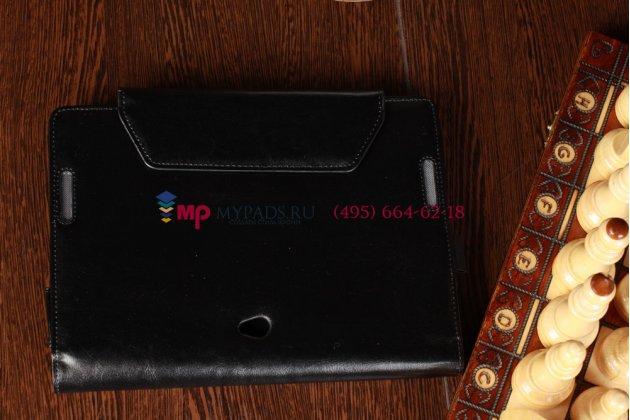Чехол для asus vivo tab rt tf600t/tf600tg черный с секцией под клавиатуру кожаный