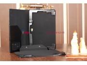 Фирменный чехол для Asus Vivo Tab RT TF600T/TF600TG черный с секцией под клавиатуру кожаный..