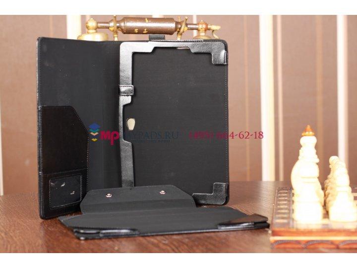 Чехол для asus vivo tab rt tf600t/tf600tg черный с секцией под клавиатуру кожаный..