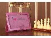 Фирменный чехол для Asus VivoTab RT TF600T/TF600TG фиолетовый кожаный..