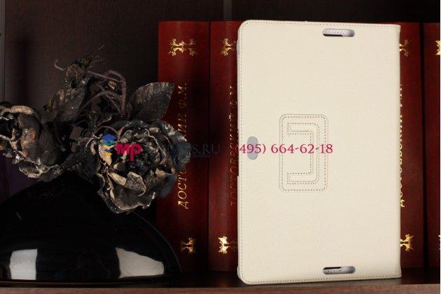 Чехол-обложка для asus vivotab rt tf600t/tf600tg белый кожаный
