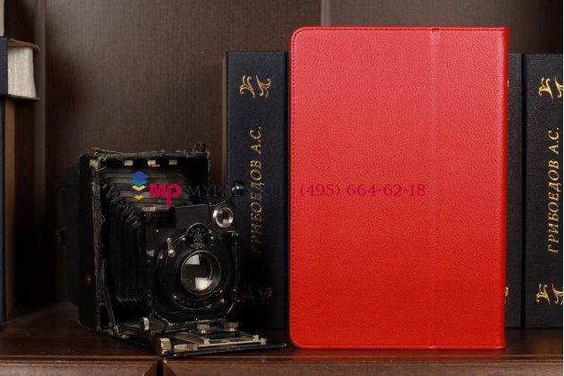 Чехол-обложка для asus vivotab rt tf600t/tf600tg красный кожаный