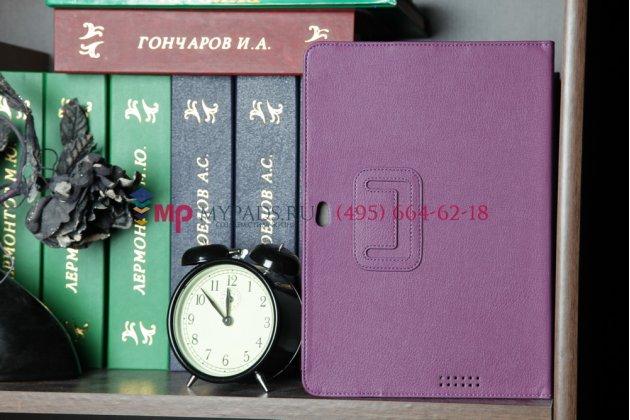 Чехол для asus eee pad transformer prime tf201/tf201g фиолетовый кожаный