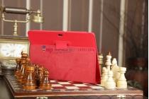 Фирменный чехол для Asus EEE Pad Transformer Prime TF201/TF201G красный кожаный