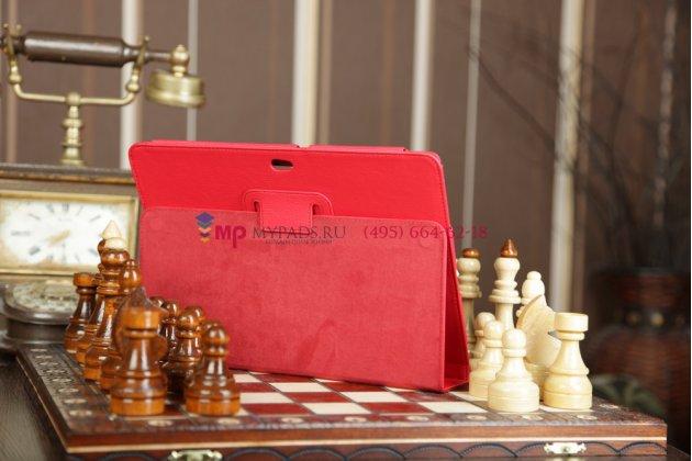 Чехол для asus transformer pad tf300/tf300tg/tf300tl красный кожаный