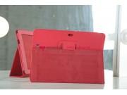 Фирменный чехол для Asus Transformer Pad TF300/TF300TG/TF300TL красный кожаный..