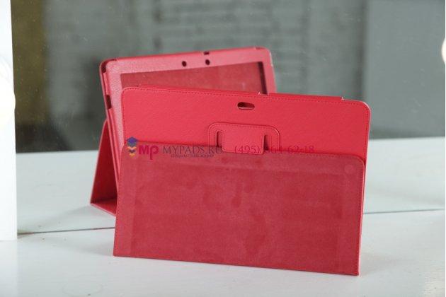 Чехол для asus eee pad transformer prime tf201/tf201g красный кожаный