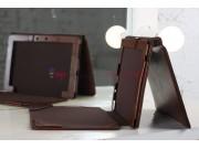 Фирменный чехол для Asus Transformer Pad TF300TG/TF300TL коричневый с отделением под клавиатуру кожаный..