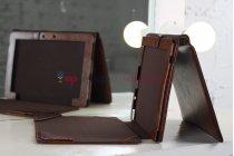 Чехол для asus transformer pad tf300tg/tf300tl коричневый с отделением под клавиатуру кожаный
