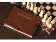 Чехол для Asus EEE Pad Transformer Prime TF201/TF201G Dock Keyboard коричневый с отделением под клавиатуру кож..