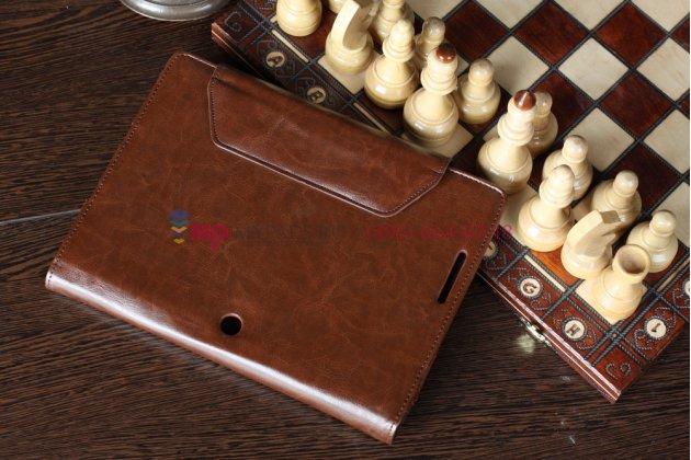 Чехол для asus transformer pad infinity tf700t/tf700kl коричневый c секцией под клавиатуру кожаный