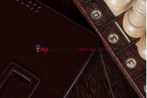 Фирменный чехол для Asus Transformer Pad TF300/TF300TG/TF300TL коричневый кожаный