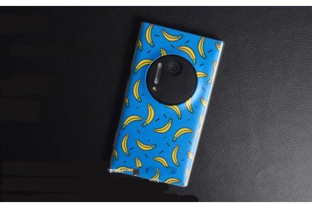 """Необычная из легчайшего и тончайшего пластика задняя панель-чехол-накладка для nokia lumia 1020  """"тематика бананы"""""""