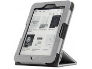 Фирменный чехол-обложка с подставкой для электронной книги Kobo Aura H2O серый из высококачественного материал..