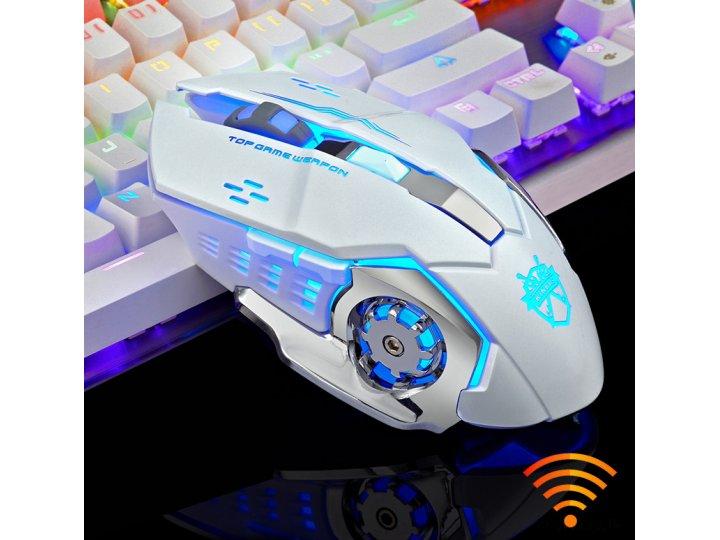 Игровая беспроводная bluethooth лазерная usb мышь для компьютера и ноутбука 2400dpi бесшумная ..