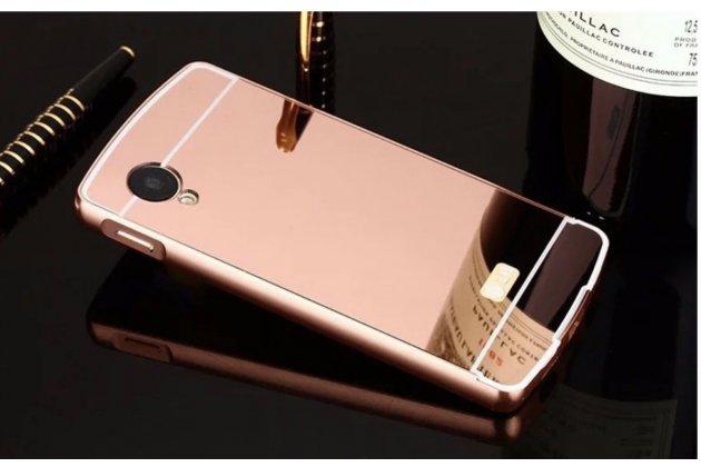 Металлическая задняя панель-крышка-накладка из тончайшего облегченного авиационного алюминия для lg google nexus 5 d821 розовая