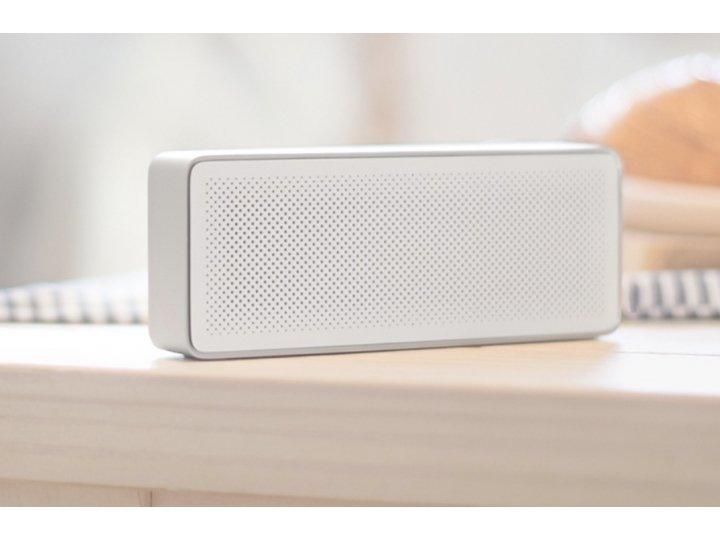 портативная акустическая система/ колонка Xiaomi Square box Cube алюминиевый белый Bluetooth 4.0
