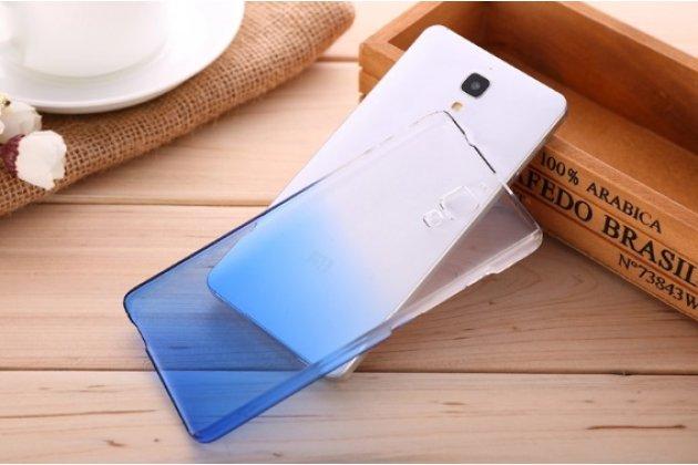 Из тонкого и лёгкого пластика задняя панель-чехол-накладка для xiaomi mi4  прозрачная с эффектом дождя