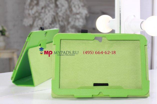 Чехол для google samsung nexus 10 зеленый кожаный