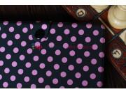 Чехол в крапинку под далматинца чехол-обложка для iPad Mini черно-розовый..