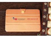 Чехол-обложка для iPad Mini с кнопкой оранжевый полиуретановый..