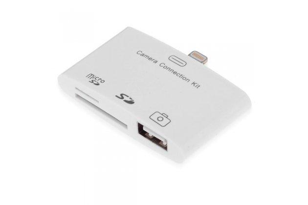 Usb переходник + разъем для карт памяти для apple ipad mini