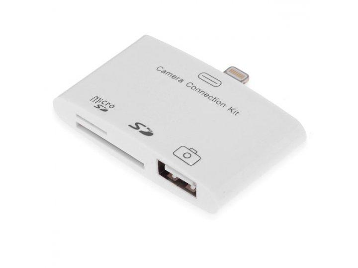 Usb переходник + разъем для карт памяти для apple ipad mini..