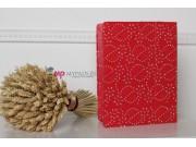 Фирменный чехол-обложка для iPad2/3/4 со стразами красный кожаный..