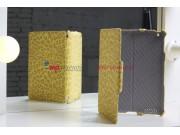 Фирменный чехол-обложка для iPad 2/3/4 леопардовый желтый кожаный..